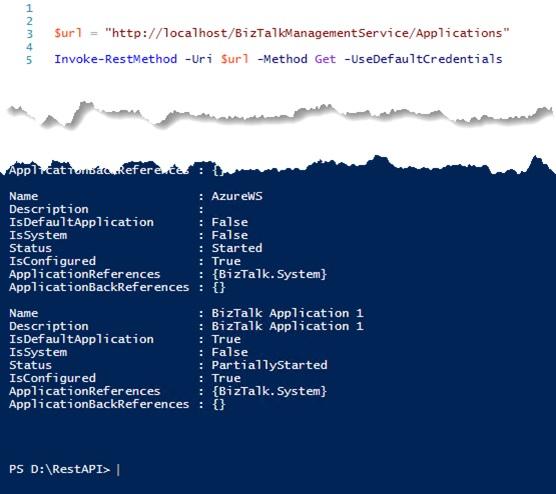 02-Using BizTalk Management REST APIs from PowerShell