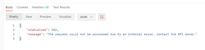 Status 502 if an unspecified header is returned